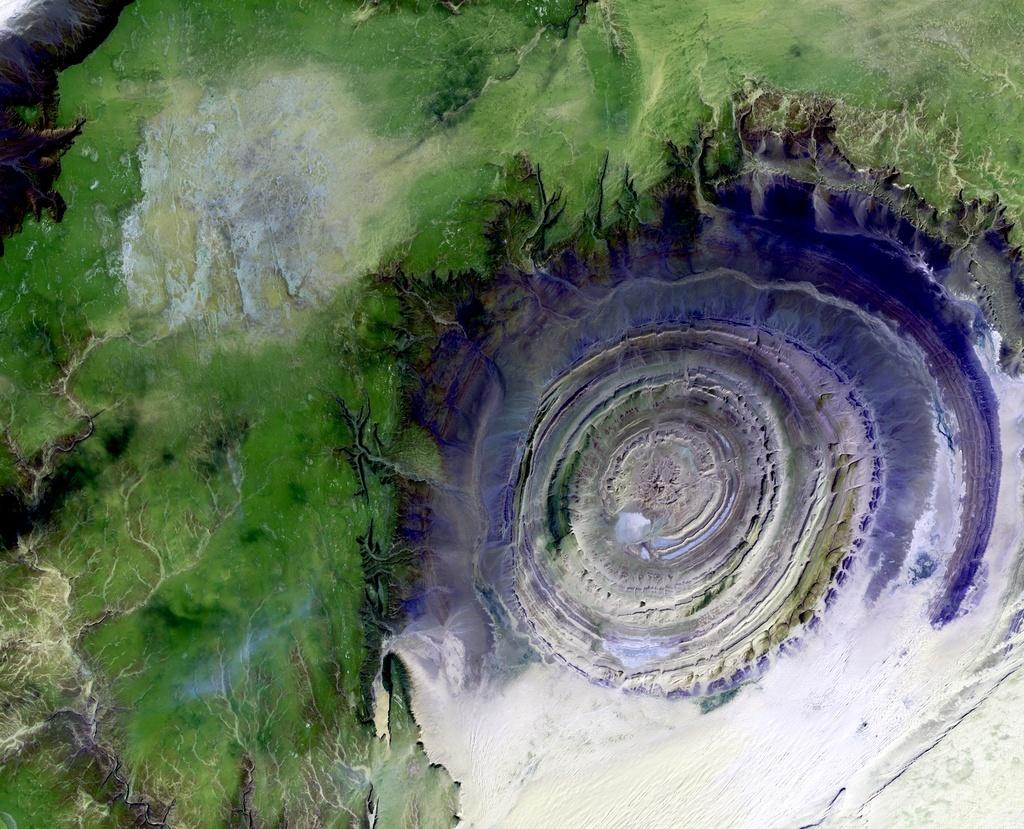 Structure de Richat en Mauritanie