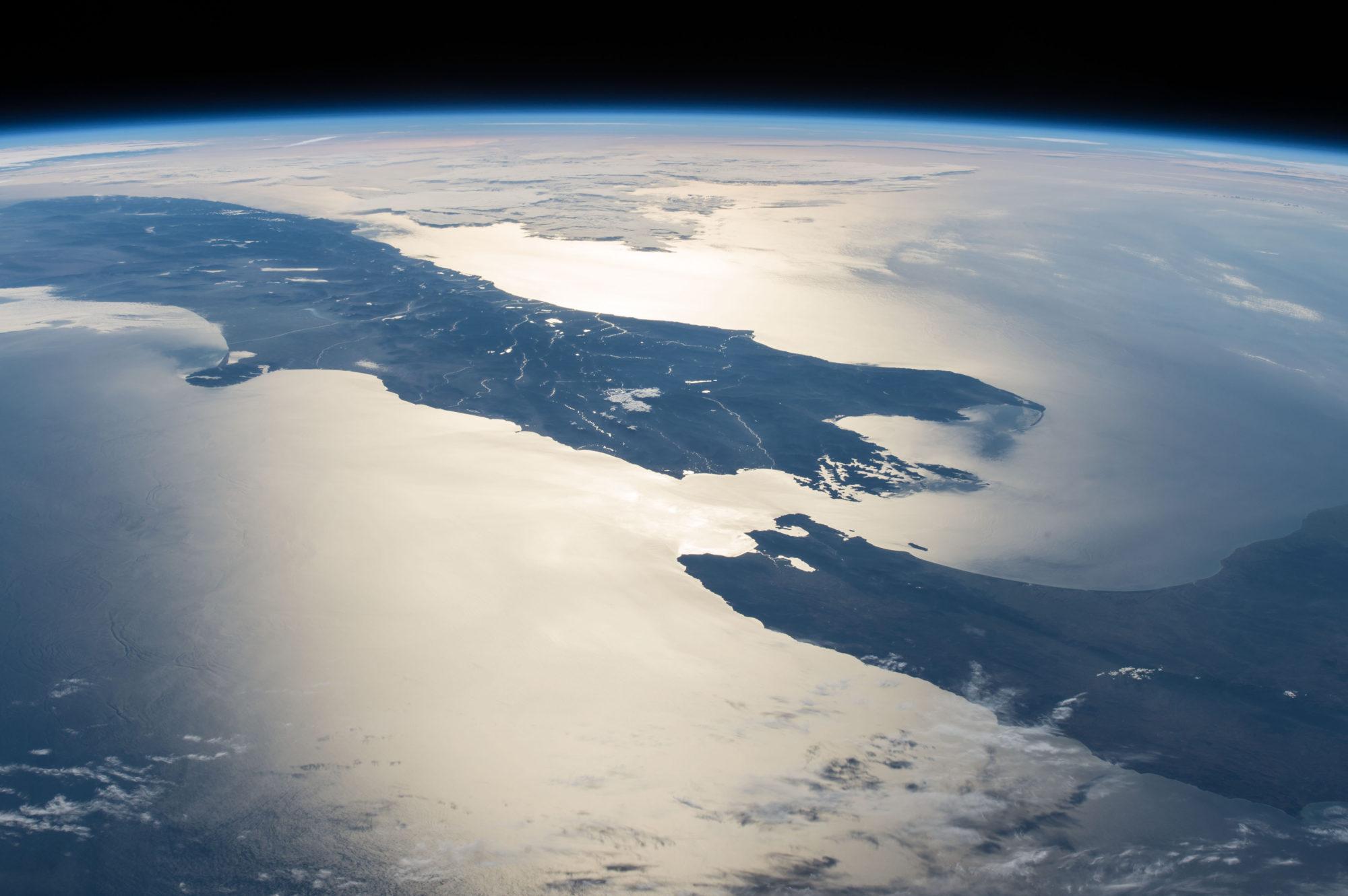 La Nouvelle-Zélande depuis l'ISS