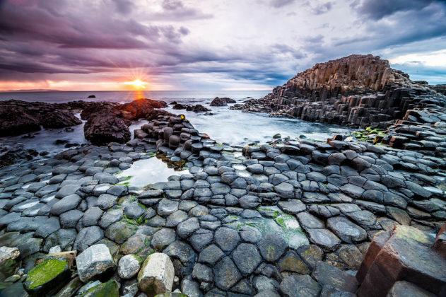 Chaussée des Géants et sa côte - Irlande du nord - Grande-Bretagne