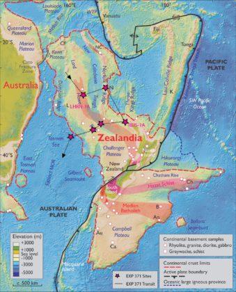 Carte de Zealandia