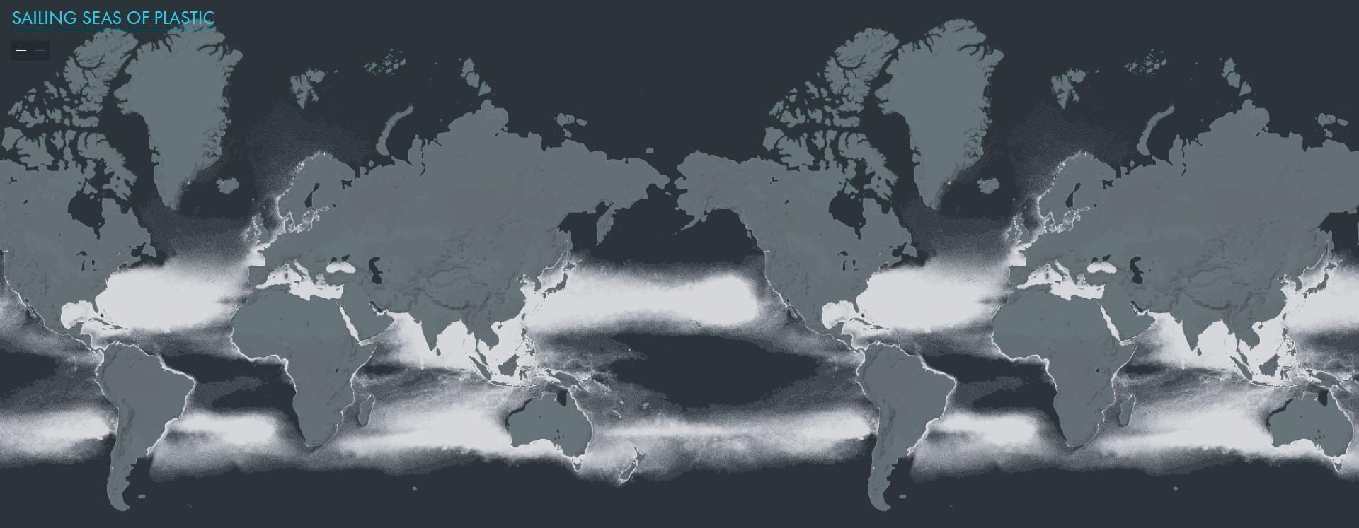 carte mondiale de la pollution plastique