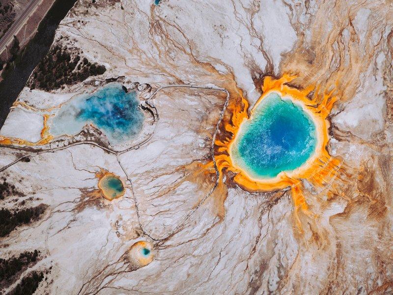 Parc national de Yellowstone, Grand Prismatic Pool, Etats-Unis