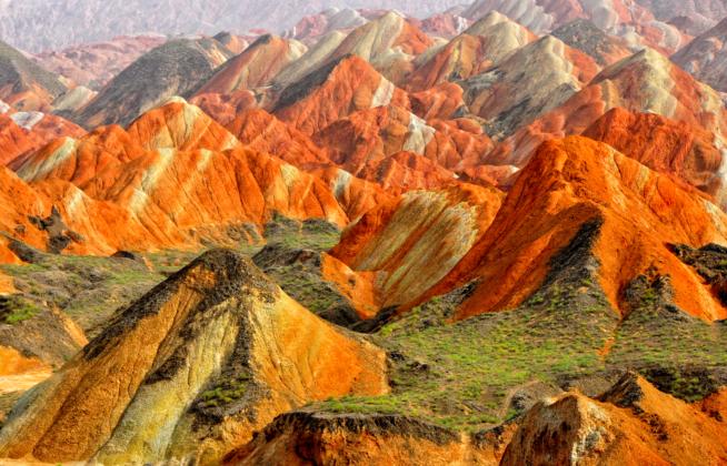 géologie des montagnes de Zhangye Danxia