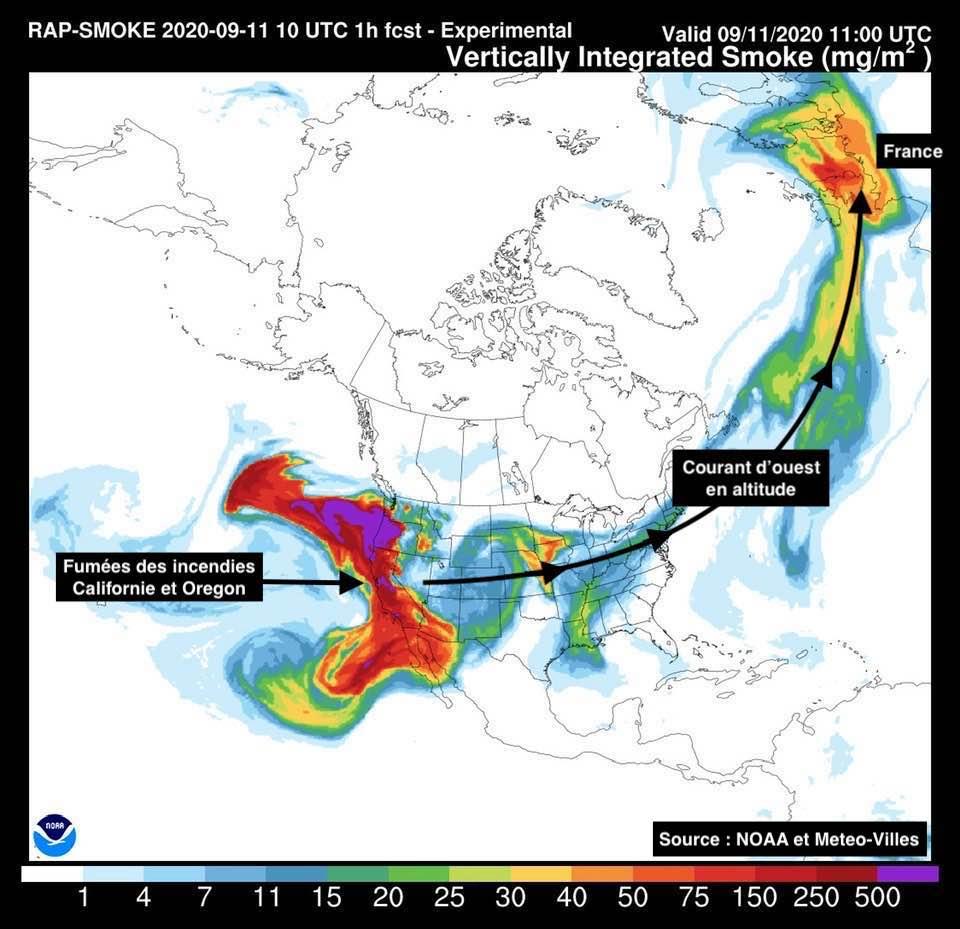 modelisation repartition fumees incendies ouest americain