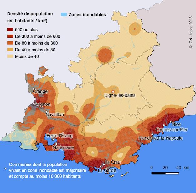 Zones inondable PACA