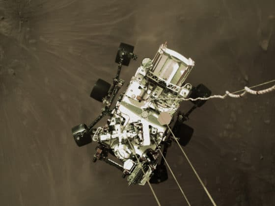 Descente de Perseverance sur Mars