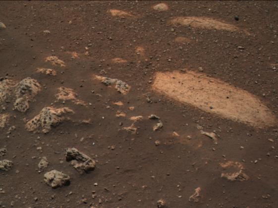 Máaz : première roche de Mars étudiée par Perseverance.