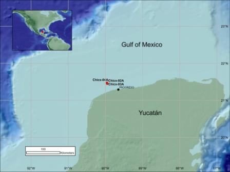 Carte du forage de l'expédition 364 dans le golfe du Mexique.