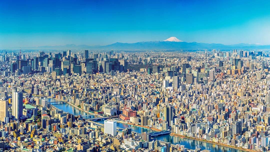 Le mont Fuji, au sud-ouest de Tokyo