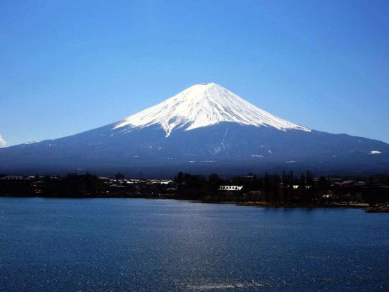 Vue du mont Fuji depuis le lac de Kawaguchiko