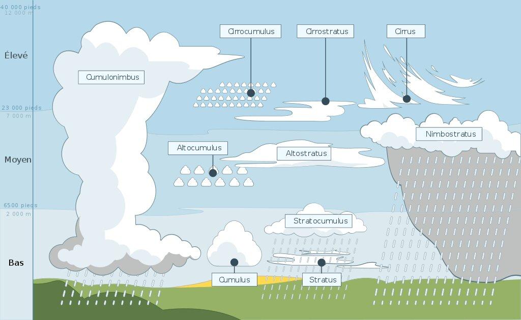 La place des nuages dans le cycle de l'eau